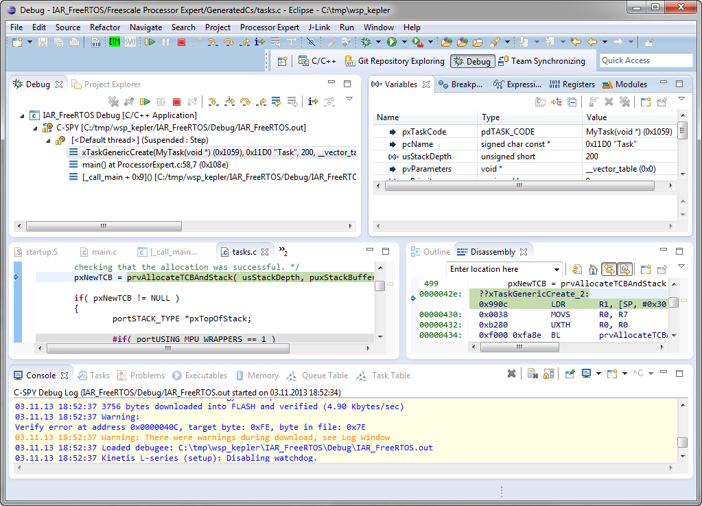 debugging FRDM KL25Z with C SPY and Eclipse