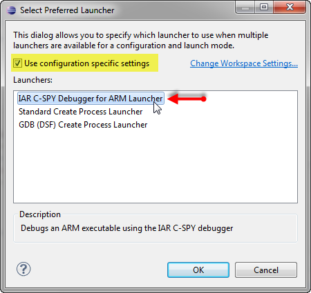 using IAR C SPY debugger