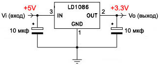 v usb tutorial linear lowdropout voltage regulator 3V3 sch