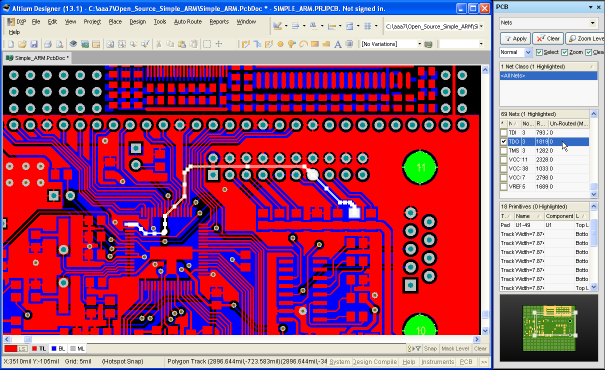 AltiumDesigner PCB panel Net