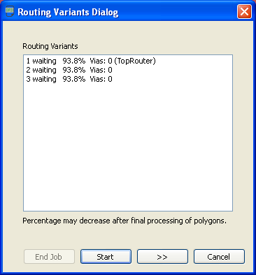 Eagle Autorouter List of Routing Variants