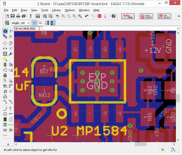 Eagle create SOIC8 with Exposed Pad create Thermal Vias