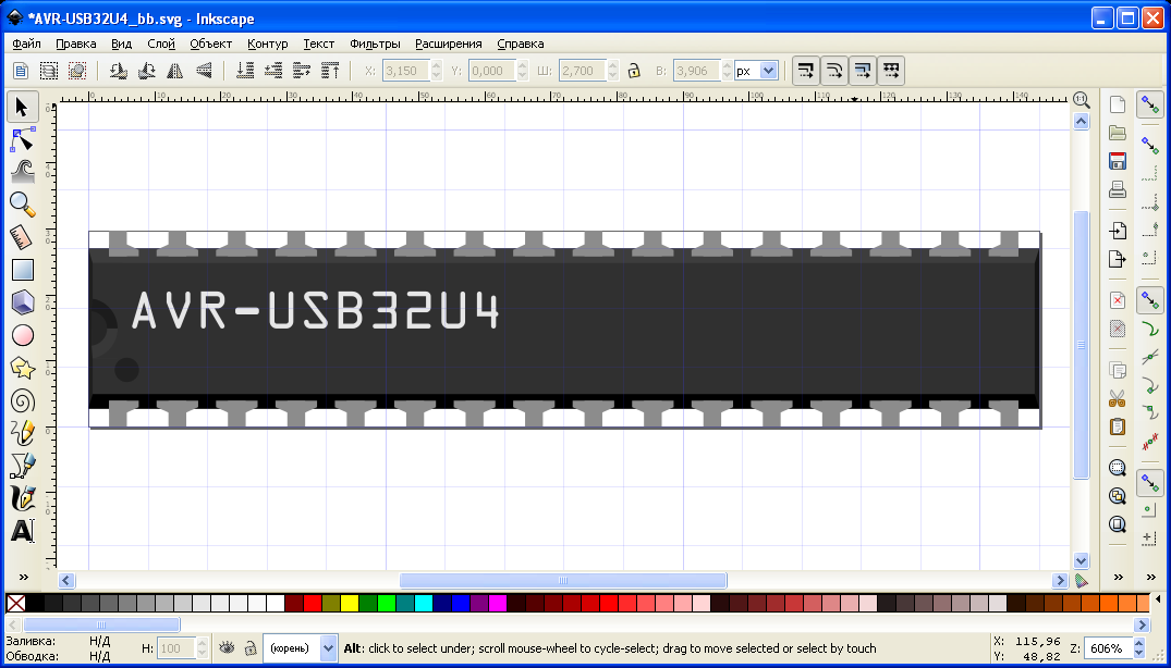 Inkscape-SVG-Breadboard-loaded