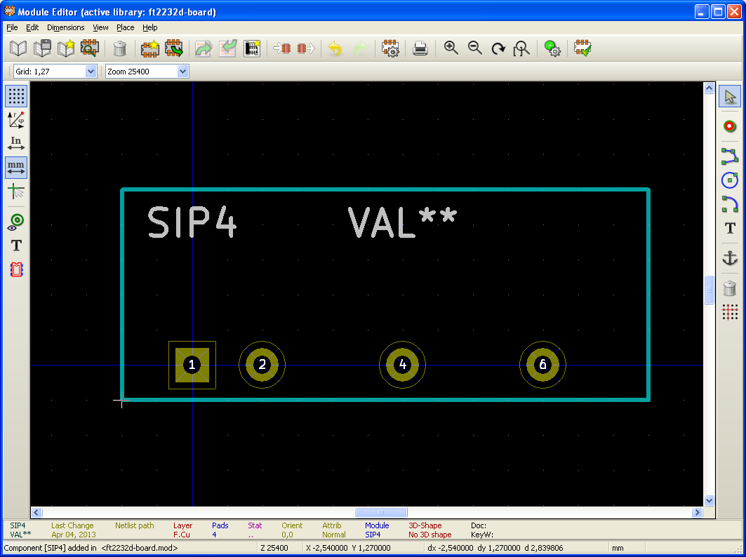 KiCAD-new-component-package-done