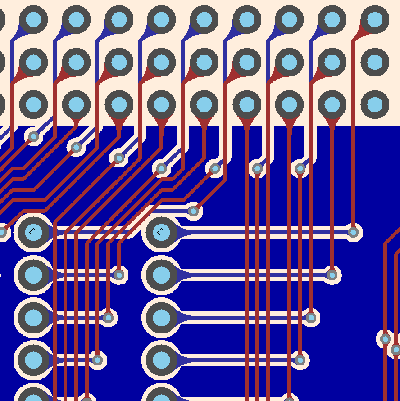 PCB teardrops example1