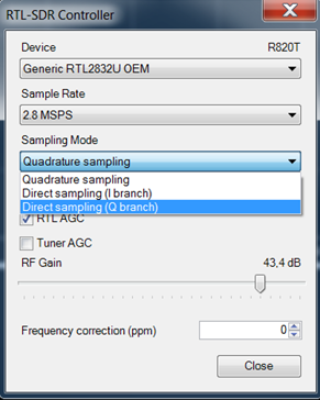 SDRSharp Configure Source